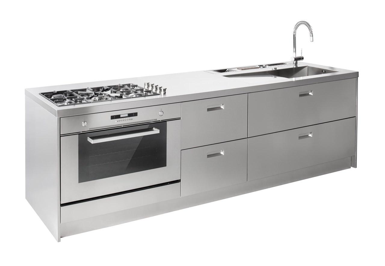 Cucine in acciaio prezzi finest lampadario moderno acciaio cromo lampada sospensione salone - Top cucina acciaio inox prezzo ...