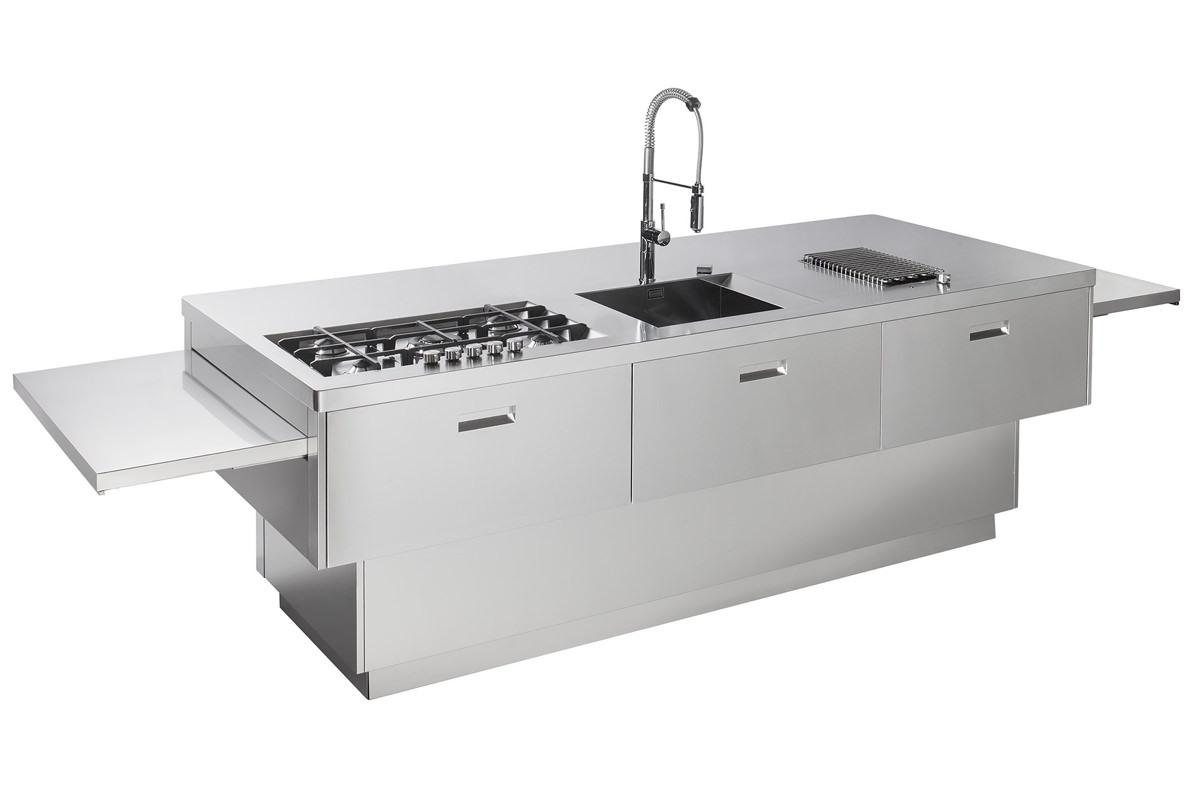Gps inox cucina in acciaio inox isola cucina - Cucina in acciaio inox ...