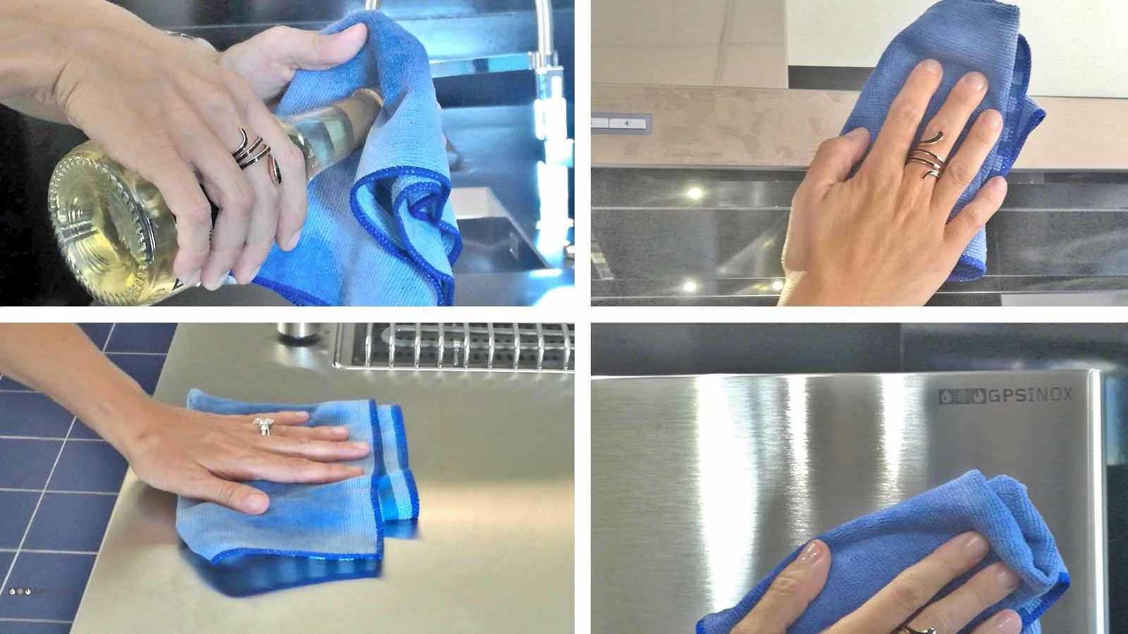 Cucina in acciaio inox: come pulirla bene in poco tempo